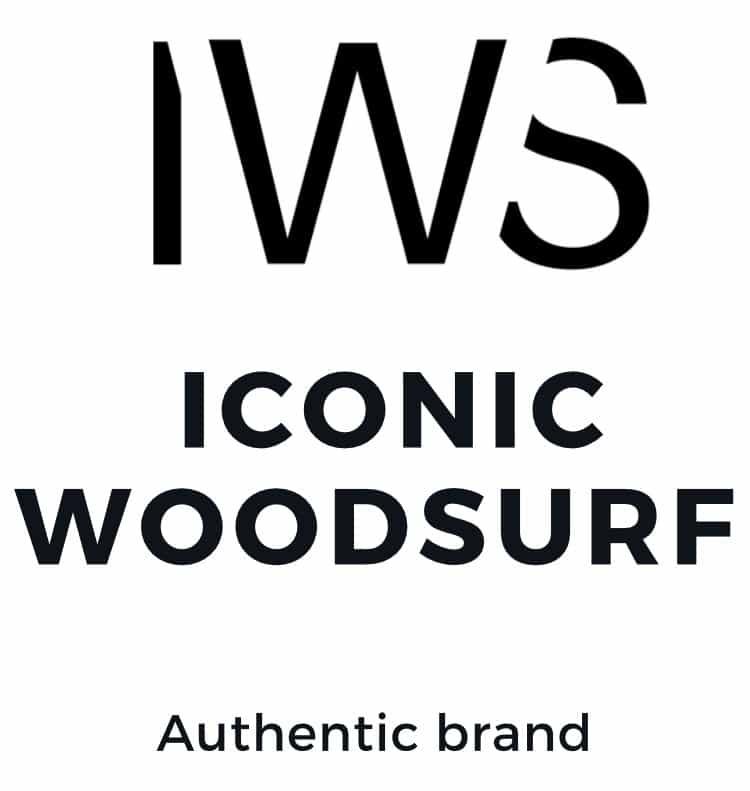 logo de la marque iconic wood surf authentic brand fabrication de surf en bois